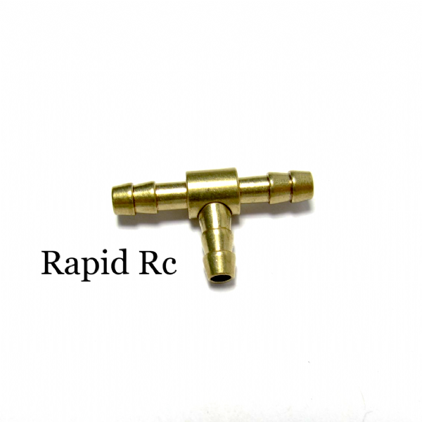 Kuza 3.2mm Brass T Connector for Gas / Petrol Tube  Kuza CNC